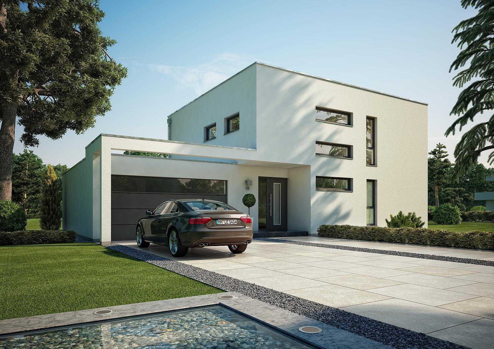 Kern Haus Bauhaus Cube Eingangsseite ...