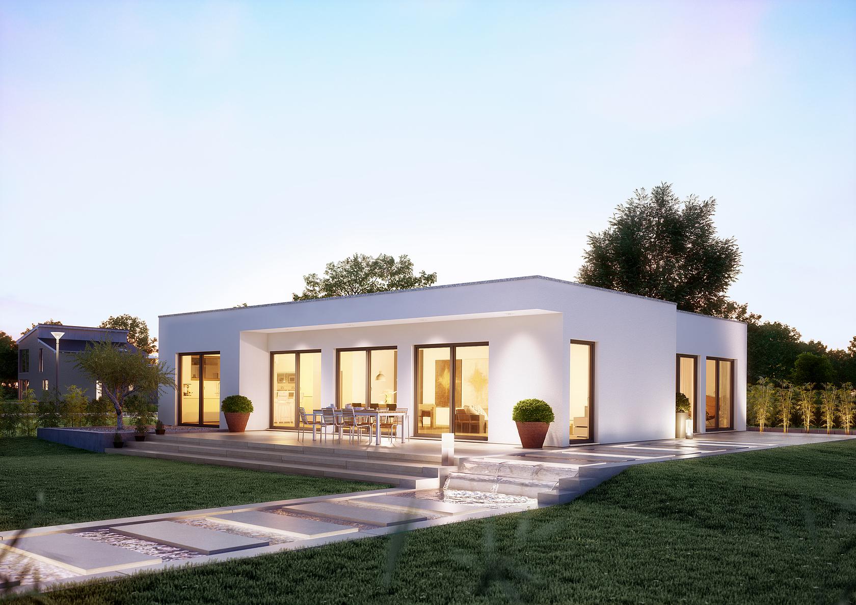 bungalow purea im bauhausstil kern haus. Black Bedroom Furniture Sets. Home Design Ideas