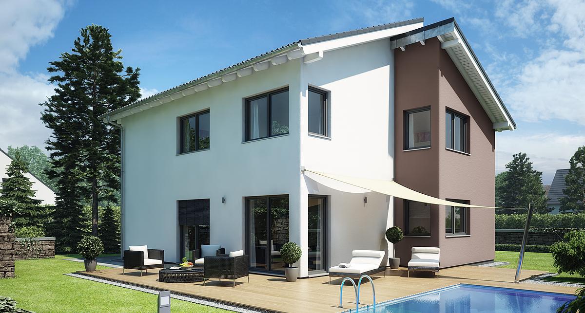 Haus mit pultdach fr design haus pultdach my home for Haus bauen modern pultdach