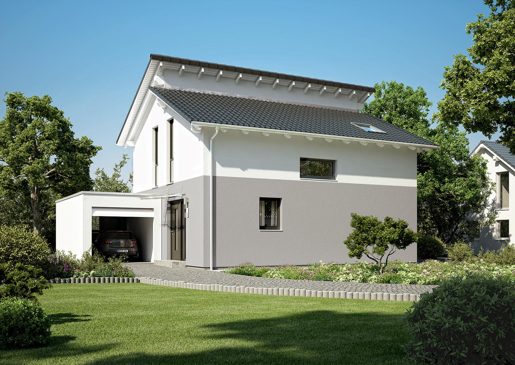 Familienhaus Loop Pult von Kern-Haus | Modernes Pultdach on