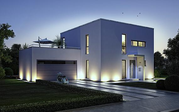 Bauhaus bauen ihr haus im bauhausstil kern haus for Moderne cube hauser