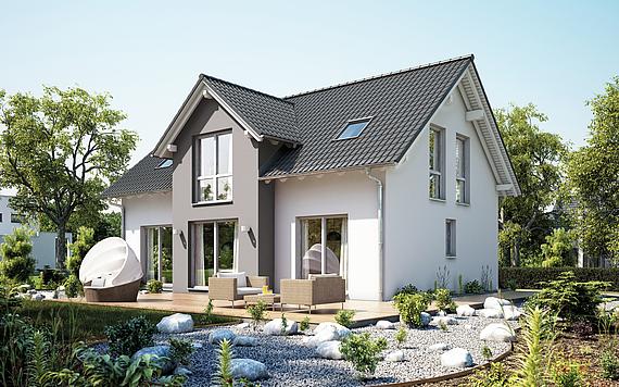 satteldach dachform haus bauen. Black Bedroom Furniture Sets. Home Design Ideas
