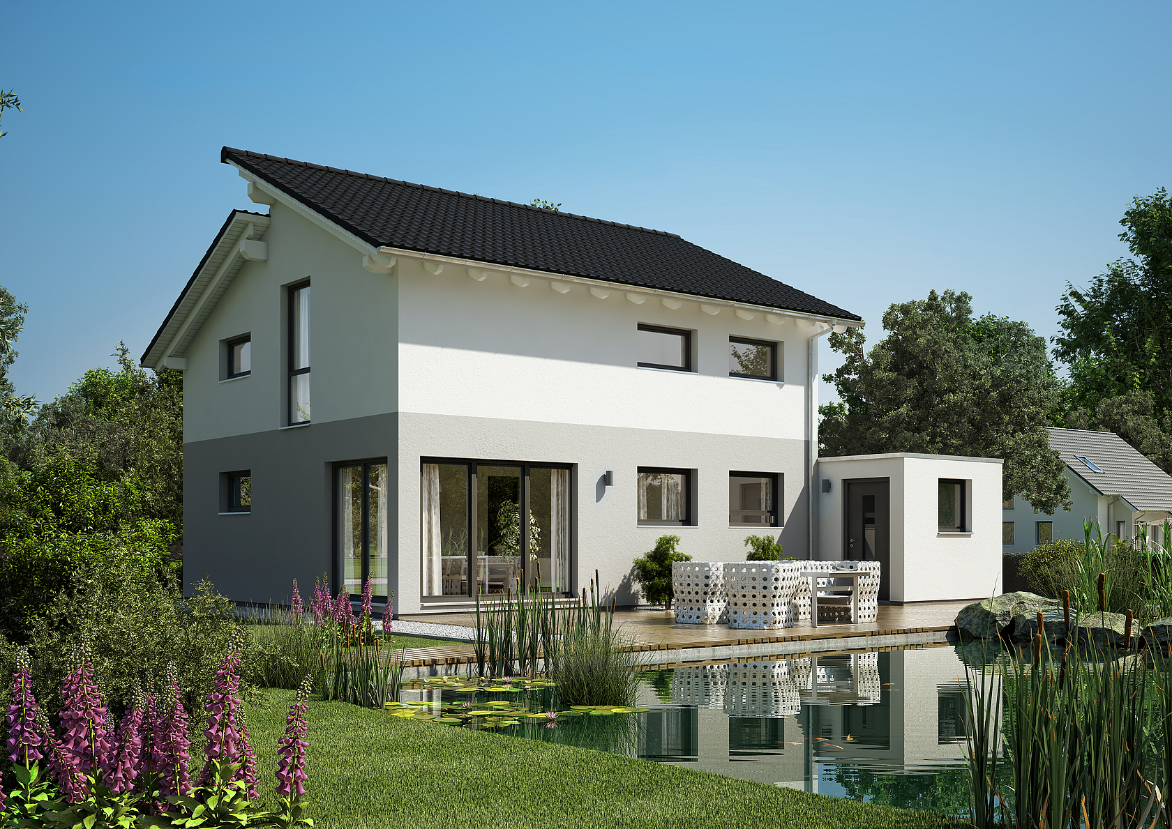 familienhaus loop pult von kern haus modernes pultdach. Black Bedroom Furniture Sets. Home Design Ideas