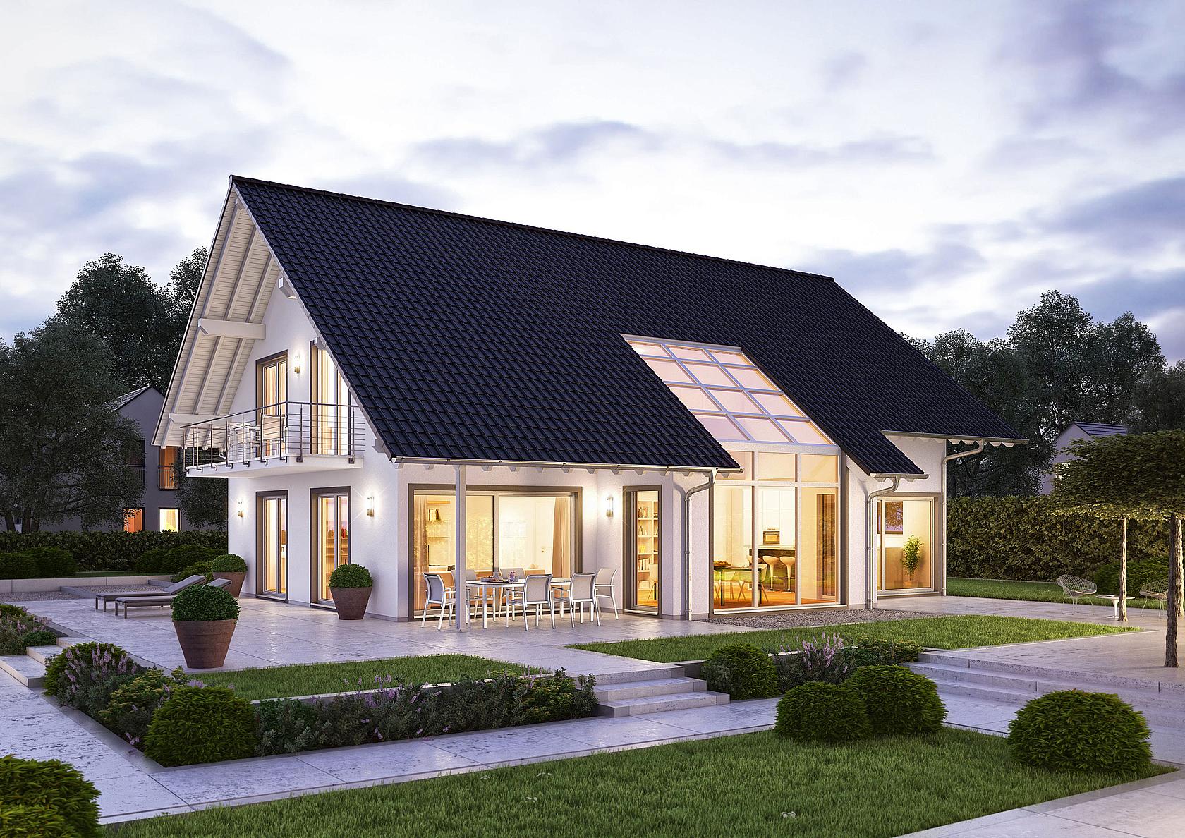 Familienhaus maxime von kern haus lichtdurchflutete r ume for Haus mit satteldach modern