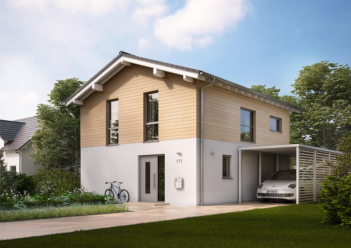 Kern haus satteldachhaus cara zeitlos und modern zugleich for Massivhaus modern
