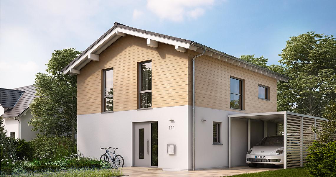 Turbo Kern-Haus: Satteldachhaus Cara - zeitlos und modern zugleich! AK89