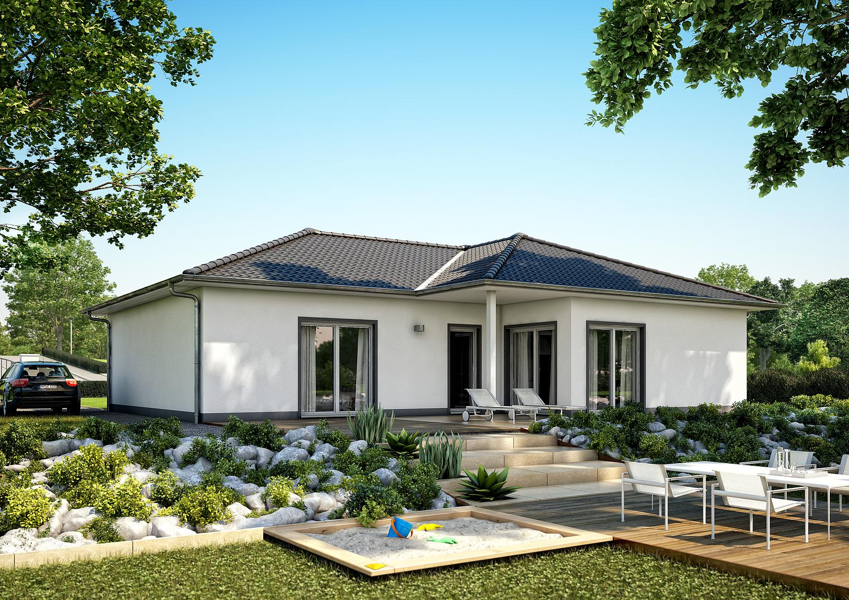 bungalow balance von kern haus wohnen auf einer ebene. Black Bedroom Furniture Sets. Home Design Ideas