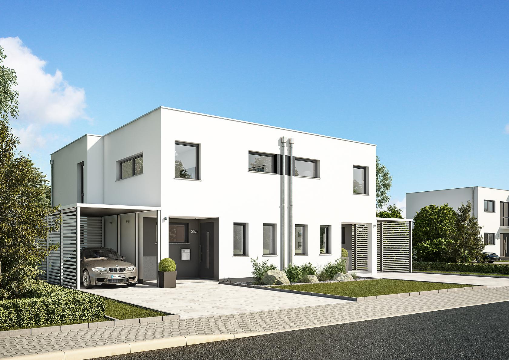 Doppelhaus Linum Bauhausstil Fr Urbane Lebensart