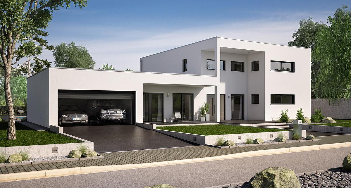 Stadtvilla mit seitlicher garage  Ihr Massivhaus mit Garage | Kern-Haus