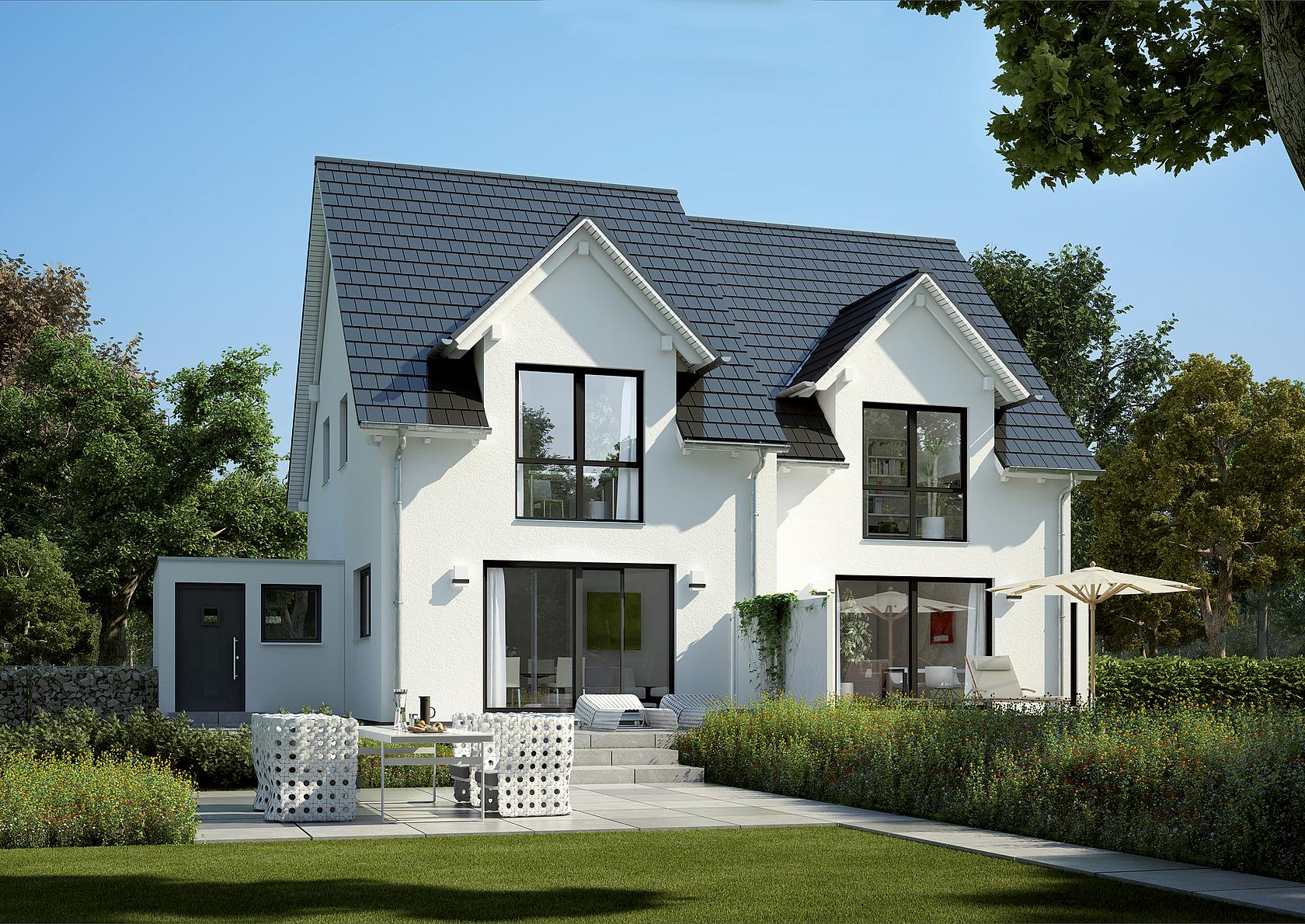 doppelhaus twin l von kern haus ideal f r kleine grundst cke. Black Bedroom Furniture Sets. Home Design Ideas