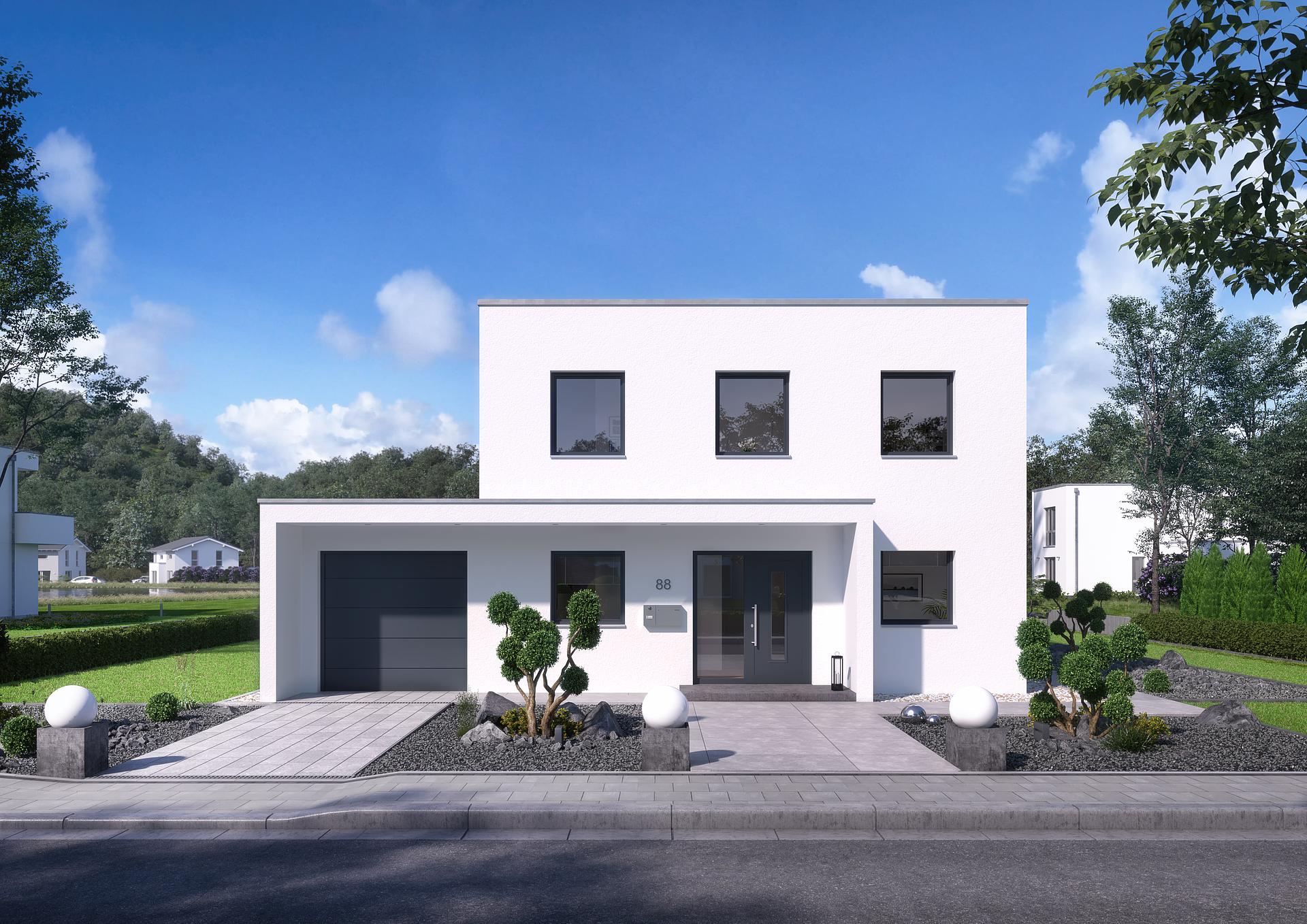 Bauhaus Puro - Flachdach bauen - modernes Architektenhaus