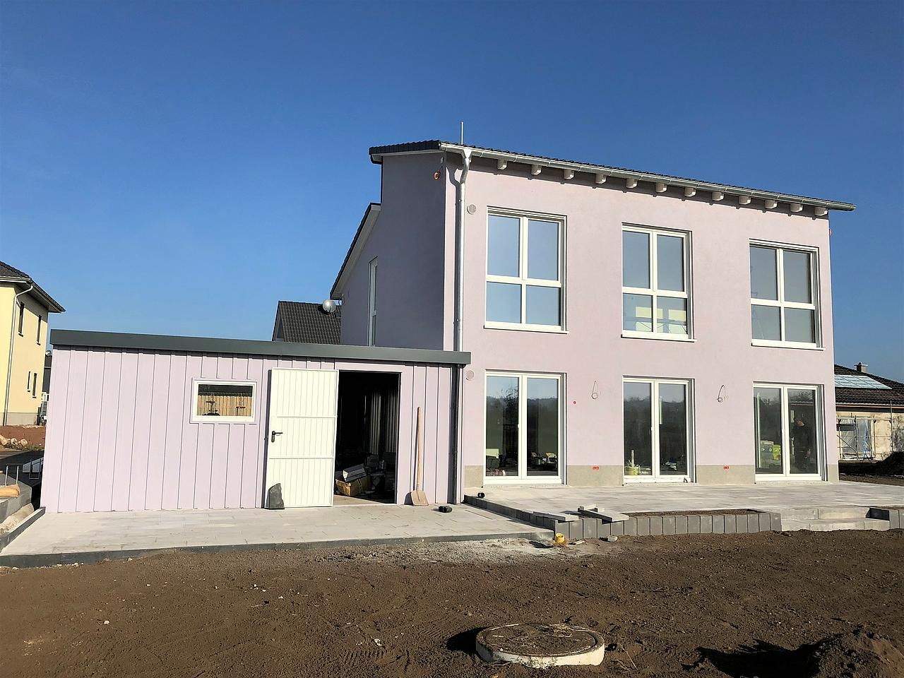 Bautagebuch Pultdach Traumhaus in Magdeburg übergeben