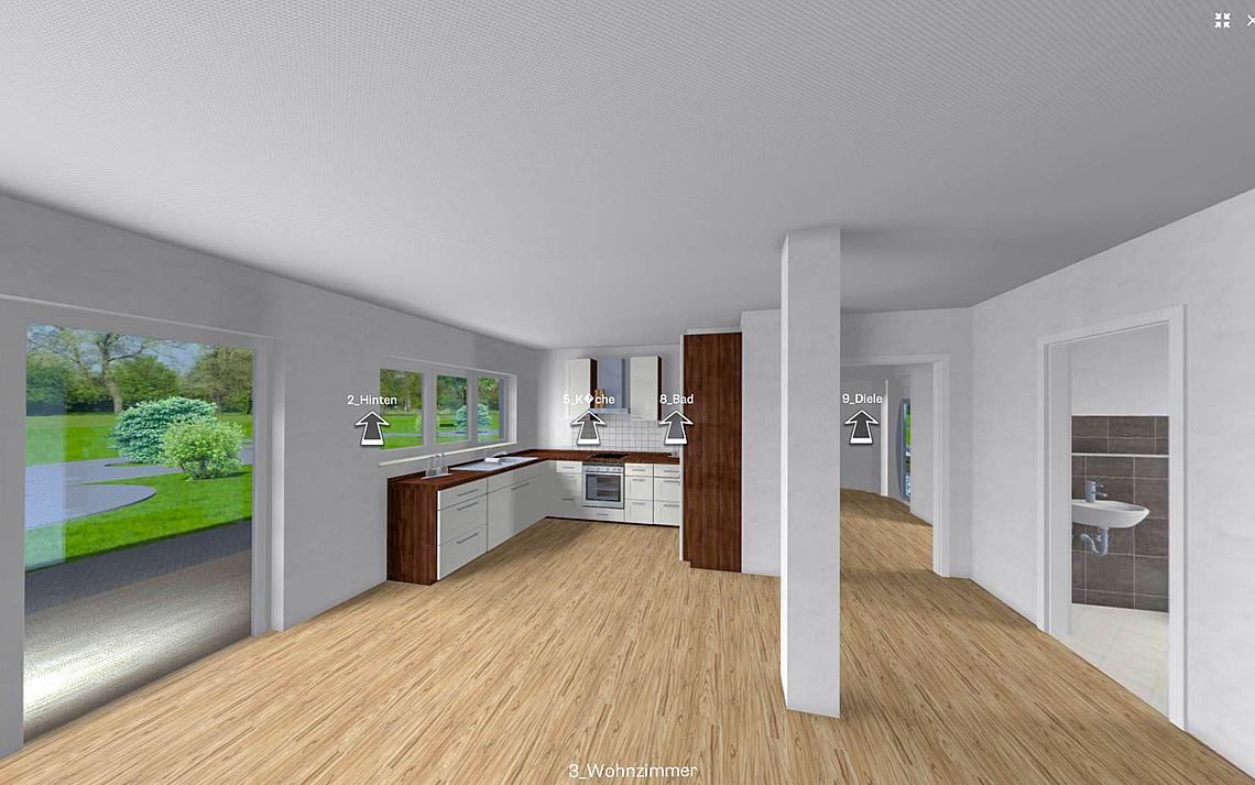 kern haus virtuelle rundg nge durch den grundriss ihres kern haus. Black Bedroom Furniture Sets. Home Design Ideas
