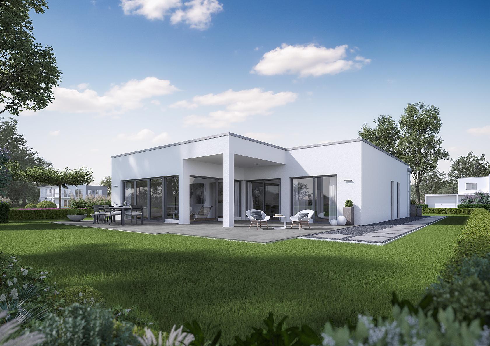 bungalow select bauhaus auf einer ebene. Black Bedroom Furniture Sets. Home Design Ideas