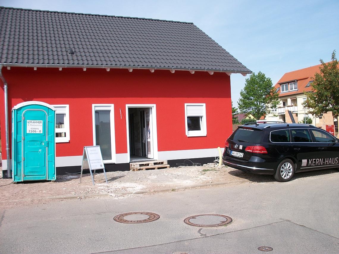 kern haus rohbaubesichtigung in erfurt vieselbach. Black Bedroom Furniture Sets. Home Design Ideas