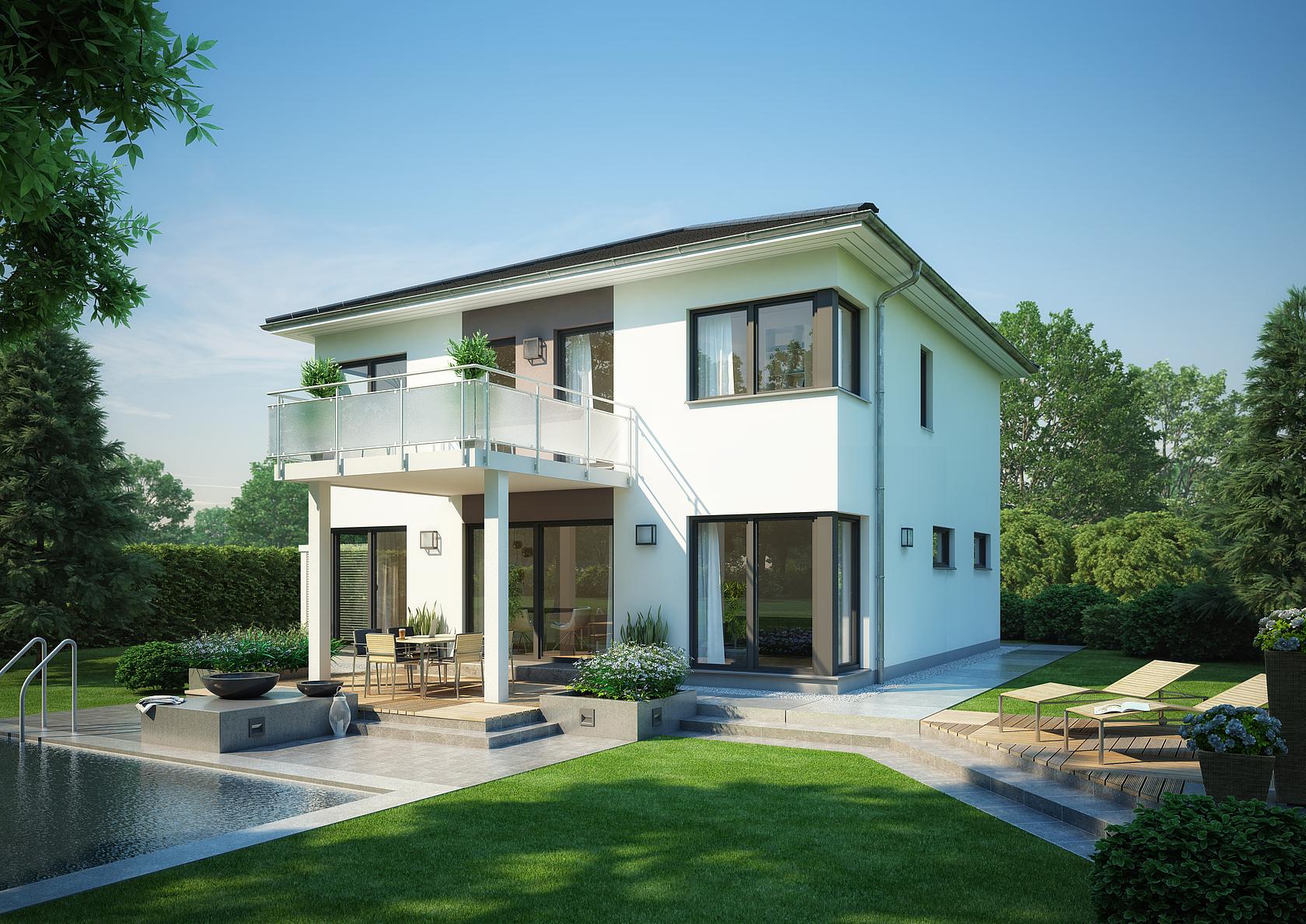 Stadtvilla centro von kern haus 4 schlafzimmer f r familien for Hausbau bilder
