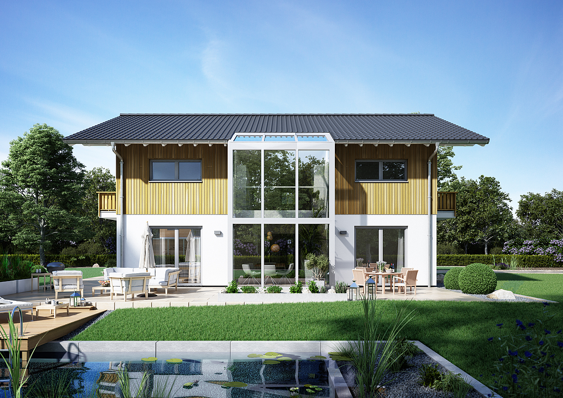 kern haus architektenhaus apos das luxuri se satteldachhaus. Black Bedroom Furniture Sets. Home Design Ideas