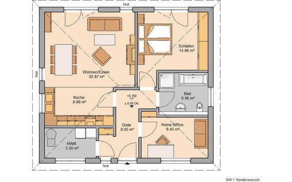 Bungalow bauen - barrierefreies Wohnen   Kern-Haus
