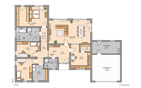 Grundriss bungalow l-form  Bungalow bauen - barrierefreies Wohnen | Kern-Haus