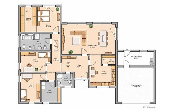 Bungalow bauen - barrierefreies Wohnen | Kern-Haus