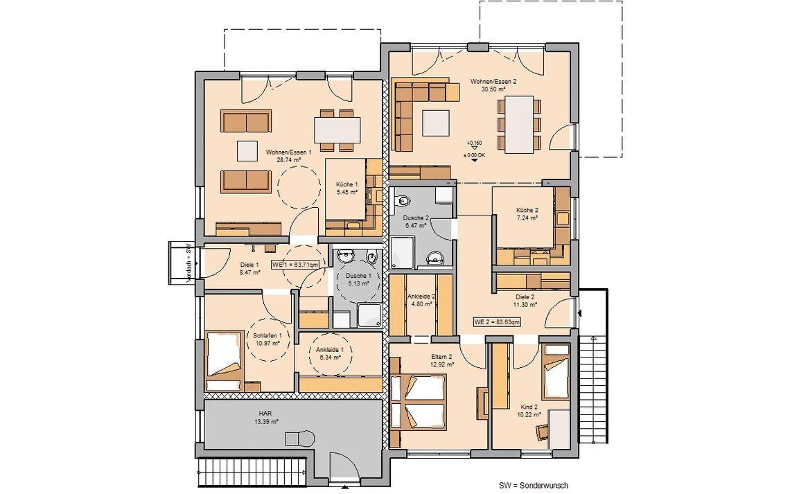 Mehrfamilienhaus bauen - individuell geplant | Kern-Haus