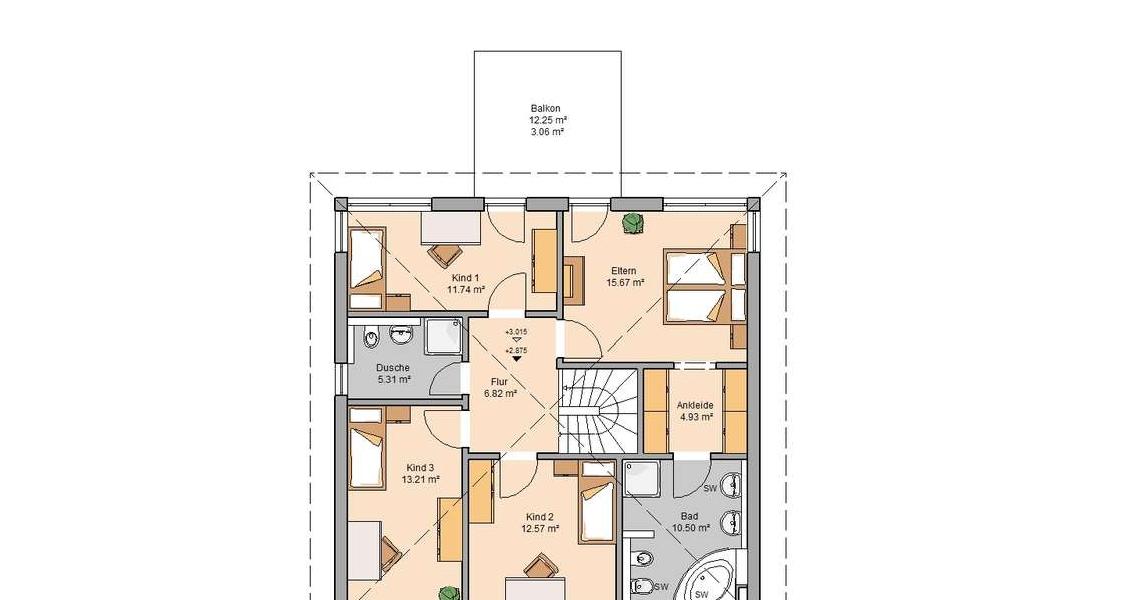 Traufhöhe Stadtvilla stadtvilla centro kern haus 4 schlafzimmer für familien