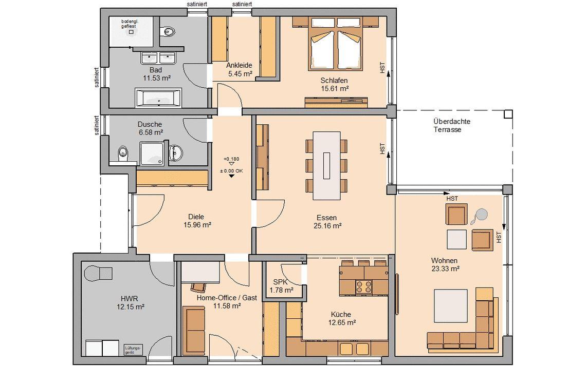 Bungalow Bauen Barrierefreies Wohnen Kern Haus