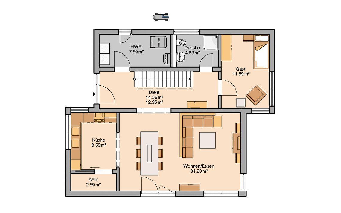 Grundrisse und passende Größe für eine Speisekammer im Haus